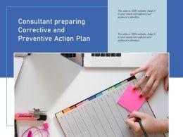 Consultant Preparing Corrective And Preventive Action Plan