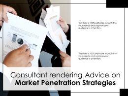 Consultant Rendering Advice On Market Penetration Strategies