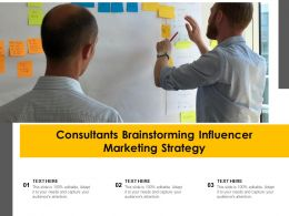 Consultants Brainstorming Influencer Marketing Strategy