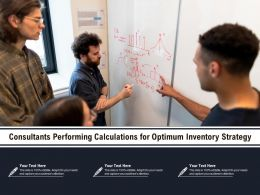Consultants Performing Calculations For Optimum Inventory Strategy