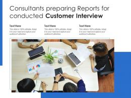 Consultants Preparing Reports For Conducted Customer Interview