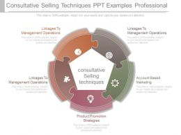 Consultative Selling Techniques Ppt Examples Professional