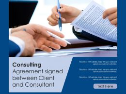 Consulting Agreement Signed Between Client And Consultant