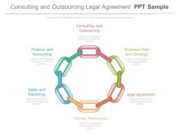 Consulting And Outsourcing Legal Agreement Ppt Sample