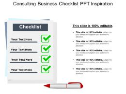 Consulting Business Checklist Ppt Inspiration