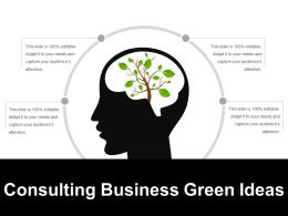 Consulting Business Green Ideas Ppt Icon
