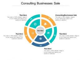 Consulting Businesses Sale Ppt Powerpoint Presentation Summary Themes Cpb