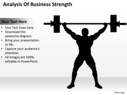 Consulting Companies Analysis Of Business Strength Powerpoint Templates PPT Backgrounds For Slides 0527