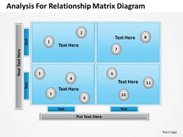 Consulting Companies Relationship Matrix Diagram Powerpoint Templates PPT Backgrounds For Slides 0527