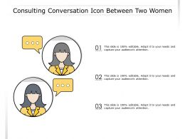 Consulting Conversation Icon Between Two Women