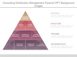 Consulting Distribution Management Pyramid Ppt Background Images