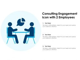 Consulting Engagement Icon With 2 Employees