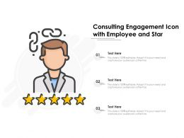 Consulting Engagement Icon With Employee And Star