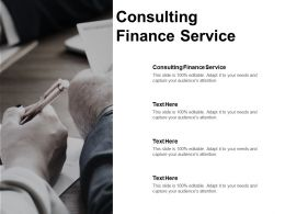 Consulting Finance Service Ppt Powerpoint Presentation Icon Structure Cpb