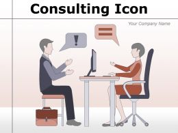 Consulting Icon Conversation Business Arrows Statement Performance Communication