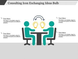 Consulting Icon Exchanging Ideas Bulb