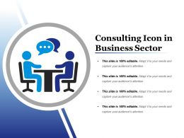 Consulting Icon In Business Sector