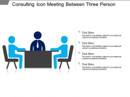 Consulting Icon Meeting Between Three Person