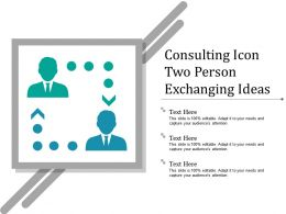 Consulting Icon Two Person Exchanging Ideas