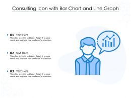 Consulting Icon With Bar Chart And Line Graph