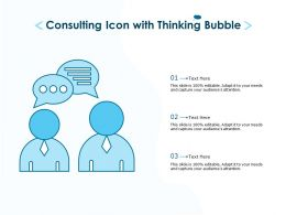Consulting Icon With Thinking Bubble