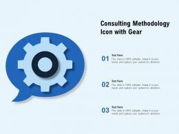 Consulting Methodology Icon With Gear