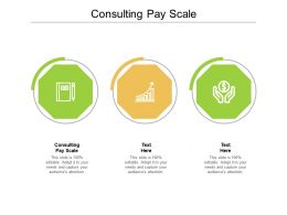 Consulting Pay Scale Ppt Powerpoint Presentation Infographic Template Templates Cpb