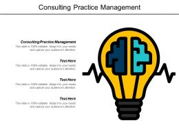 Consulting Practice Management Ppt Powerpoint Presentation Pictures Brochure Cpb