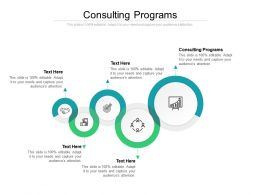 Consulting Programs Ppt Powerpoint Presentation Icon Graphics Design Cpb