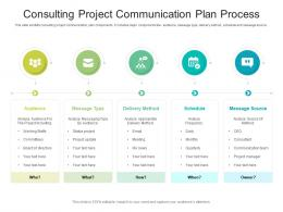 Consulting Project Communication Plan Process
