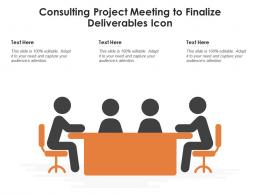 Consulting Project Meeting To Finalize Deliverables Icon