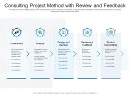 Consulting Project Method With Review And Feedback