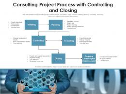 Consulting Project Process With Controlling And Closing