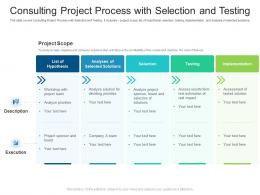 Consulting Project Process With Selection And Testing