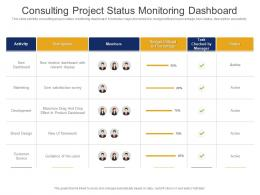 Consulting Project Status Monitoring Dashboard