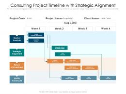 Consulting Project Timeline With Strategic Alignment