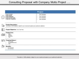 Consulting Proposal With Company Motto Project
