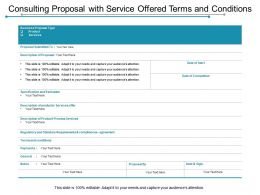 Consulting Proposal With Service Offered Terms And Conditions