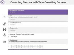 Consulting Proposal With Term Consulting Services