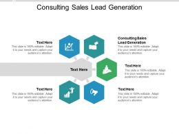 Consulting Sales Lead Generation Ppt Powerpoint Presentation Model Portrait Cpb