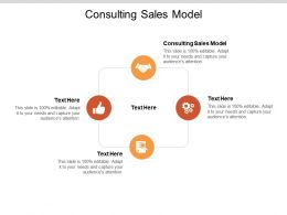 Consulting Sales Model Ppt Powerpoint Presentation Icon Gallery Cpb