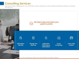 Consulting Services Goals For Growth Ppt Powerpoint Presentation Guide