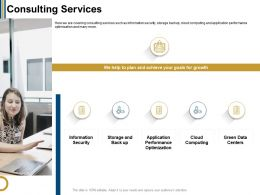 Consulting Services We Help Ppt Powerpoint Presentation File Samples