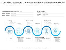 Consulting Software Development Project Timeline And Cost