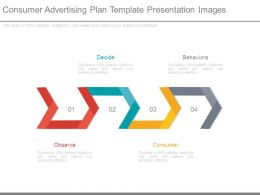 Consumer Advertising Plan Template Presentation Images