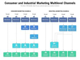 Consumer And Industrial Marketing Multilevel Channels