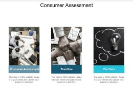 Consumer Assessment Ppt Powerpoint Presentation Gallery Good Cpb