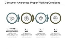 Consumer Awareness Proper Working Conditions Ppt Powerpoint Presentation Visual Aids Portfolio Cpb