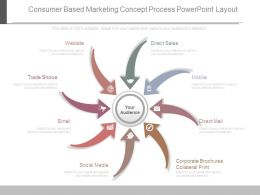Consumer Based Marketing Concept Process Powerpoint Layout