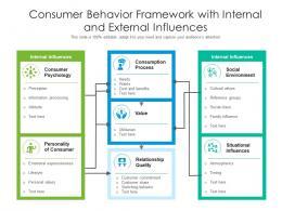 Consumer Behavior Framework With Internal And External Influences